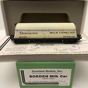 Brass H0 Overland Models Omi-1369 Borden Milk Tank Car With Out