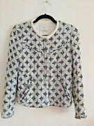 Iro Diamond Trimmed Leather Tweed Jacket And Vest Set Size 34 Rrp 672 Sold Out