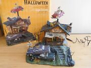 Dept 56 Snow Village Halloween - Animated Rustyand039s Used Cars - Working Perfectly
