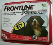 Frontline Plus, Extra Large Dogs 89 To 132 Lbs 6 Dose, Flea And Tick Treatment