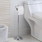 Sunnypoint Bathroom Free Standing Toilet Tissue Paper Roll Holder Stand With