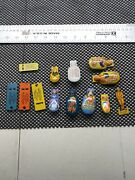 Vintage Tin Toy Lot Cracker Jack Soldier Clickers Whistles Frog Ice Skating Rare