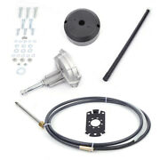 Boat Rotary Steering System Outboard Kit 12 Feet Marine W/steering Cable Durable