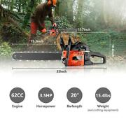 62cc 20 Gas Chainsaw High Power 2-cycle Handed Chain Saw 3.5hp Us Stock