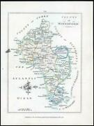 1776 Ireland - Rare Engraved Antique Map Of Waterford By Bernard Scale Bs2/2