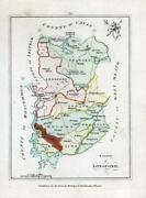 1776 Ireland - Rare Engraved Antique Map Of Longford By Bernard Scale Bs2/19