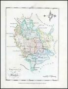 1776 Ireland - Rare Engraved Antique Map Of Munster By Bernard Scale Bs2/4