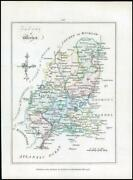 1776 Ireland - Rare Engraved Antique Map Of Wexford By Bernard Scale Bs2/21