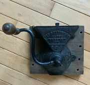 Rare Antique Coffee Grinder Mill C Parker 350 Wall Mount Pat 1876