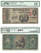 1865 1 First National Bank Of Paola 1864 Original Pmg Fine-12