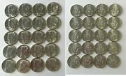 1964-p Uncirculated 90 Silver Kennedy Half Dollar Roll Of 20 Coins