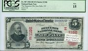 Fr. 587 1902 Rs 5 Ch 1186 National Bank Note New Paltz New York Pcgs 15 Fine