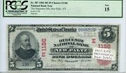 Fr. 587 1902 Rs 5 Ch 1186 National Bank Note Pcgs 15 Fine 3200 Dfp