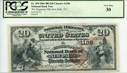 Fr. 494 1882 Bb 20 Ch 1186 National Bank Note New Paltz New York Pcgs 30 Vf
