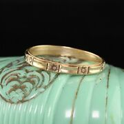 Antique Art Deco 14k Yellow Gold Engraved Wedding Band - Size 11 3/4
