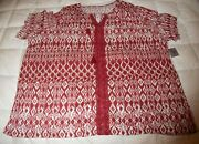 New Catherines Ss V-neck Summer Top Shirt Blouse Ladies Plus Size 3x 26/28w Gift