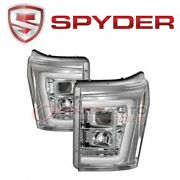Spyder Auto Headlight Set For 2011-2016 Ford F-350 Super Duty - Electrical Ro