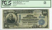 Fr. 631 1902 Pb 10 Ch 2225 National Bank Note Brewsters New York Pcgs 15 F