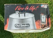 Old Smokey Charcoal Grill 18 In Aluminized Steel W/ Chrome Plated Cooking Grid