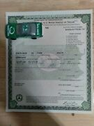 1930 Ford Model A Roadster Paperwork Document