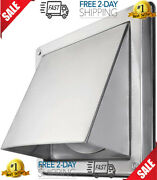 Hwg 6 External Extractor Wall Vent Cushioned Non Return Flap Stainless Steel