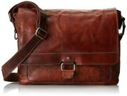 Jack Georges Voyager Messenger Brown Hand Stainded Buffalo Leather Bag