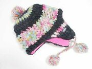 Element Knit Cap Hat Wool Multi Colored Black Mens Women And039s