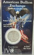 1/10 Oz 999 Fine Silver Walking Liberty Bullion Rounds Carry In Your Wallet