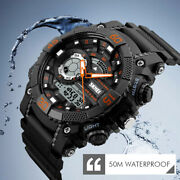 Digital Watch Electronic Men Led Shockproof Fashion Sport Wrist Watches Military