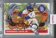 2021 Fernando Tatis Jr Topps Project 70 By Ermsy 1955 In Hand Sp /12688 Padres 2