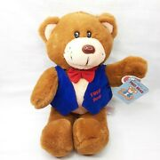 Vintage Fred Bear Plush 1988 Fairview Toy Fred Meyer Outfit