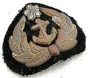 Ww2 Imperial Japanese Navy Petty Officer Hat Cap Patch Badge Vintage Free Ship