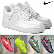 Menand039s Womenand039s Air Force1 Low Top Trainers Sneakers Shoes Athleisure Outdoor Uk