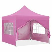 Gdy 10x10 Ft Outdoor Pop Up Canopy Tent, Commercial Portable Instant Folding She