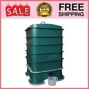 5 Tray Worm Factory Farm Compost Small Compact Bin Set For Indoor And Outdoor New