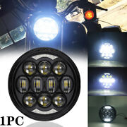 80w 5-3/4and039and039 5.75and039and039 Inch Round Led Projection Headlight Halo Drl For Motorcycle