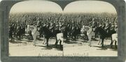 Russian Soldiers Officers Wwi Antique Stereo View Sv Stereoview Photo