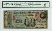 Fr. 383 1875 1 Ch 1616 National Bank Note Pmg 8 Net Very Good 1400 Dfp