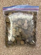 Lot Of 1000 - Wheat Pennies 1909-1958 + Random Mix Of Dates + P,d And S