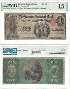 1865 1 Farmers National Bank Of Reading Pa 696 Pmg Choice Fine-15
