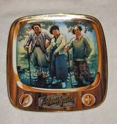The Three Stooges Par For The Worse Porcelain Collectible Plate Franklin Mint