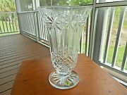 Waterford Crystal Balmoral Footed Vase 10 Inches Tall