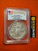 2011 S Silver Eagle Pcgs Ms69 Flag First Strike From 25th Anniversary Set