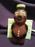 Rare Piggy Bank Bottle Screw Top Unpunched Hand Painted Odd Ball Unique