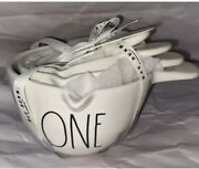 New Vhtf Rae Dunn White Measuring Cups With Handle Ceramic Fall 2020
