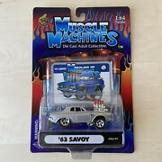 Muscle Machines Silver 1963 Plymouth Savoy 164 With Rare Manufacture Defect