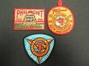 Philmont Scout Ranch Lot Of 3 Anniversary Patches   Eb25