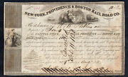 New York Providence And Boston Rr Stock Certificate No. 619 1838