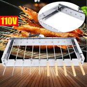 Electric Automatic Bbq Barbecue Outdoor Grill Roaster Indoor Shelf Skewer Picnic