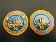 Philmont Scout Ranch 50th Anniversary Pocket Patches, 2 Diff Varieties   Eb25